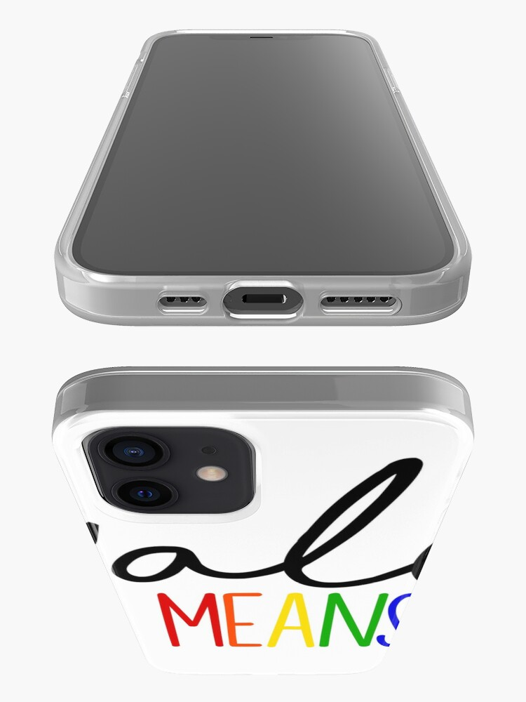 Alternate view of Y'all Means all iPhone Case & Cover