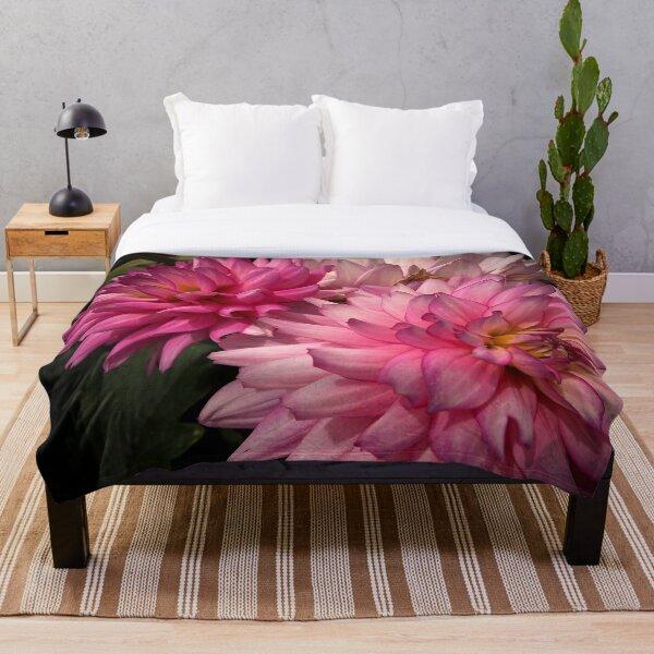Pink Dahlias from A Gardener's Notebook Throw Blanket
