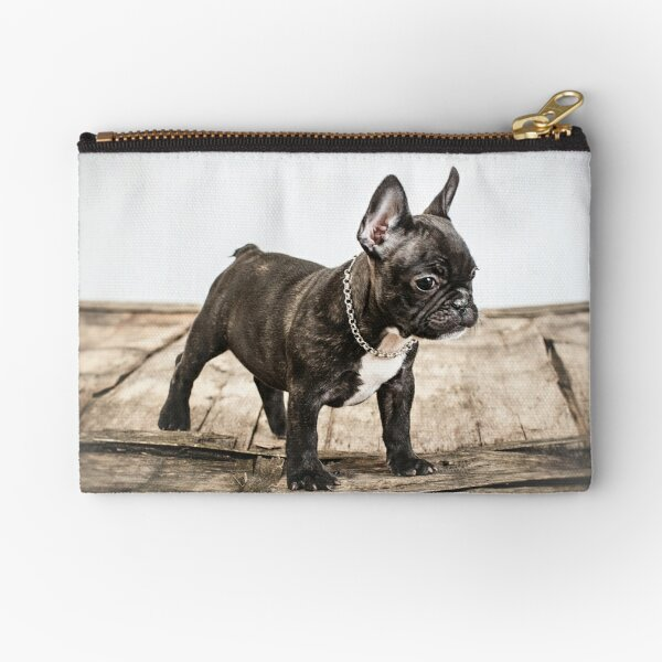 French bulldog portrait Zipper Pouch
