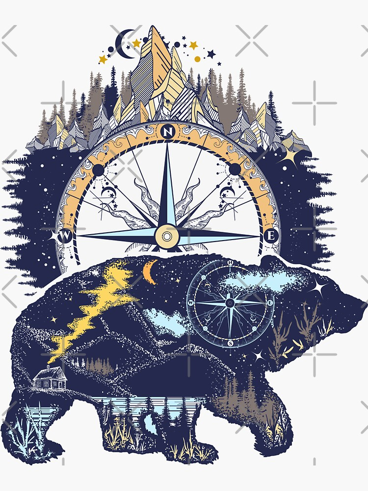 Bear and mountains by intueri