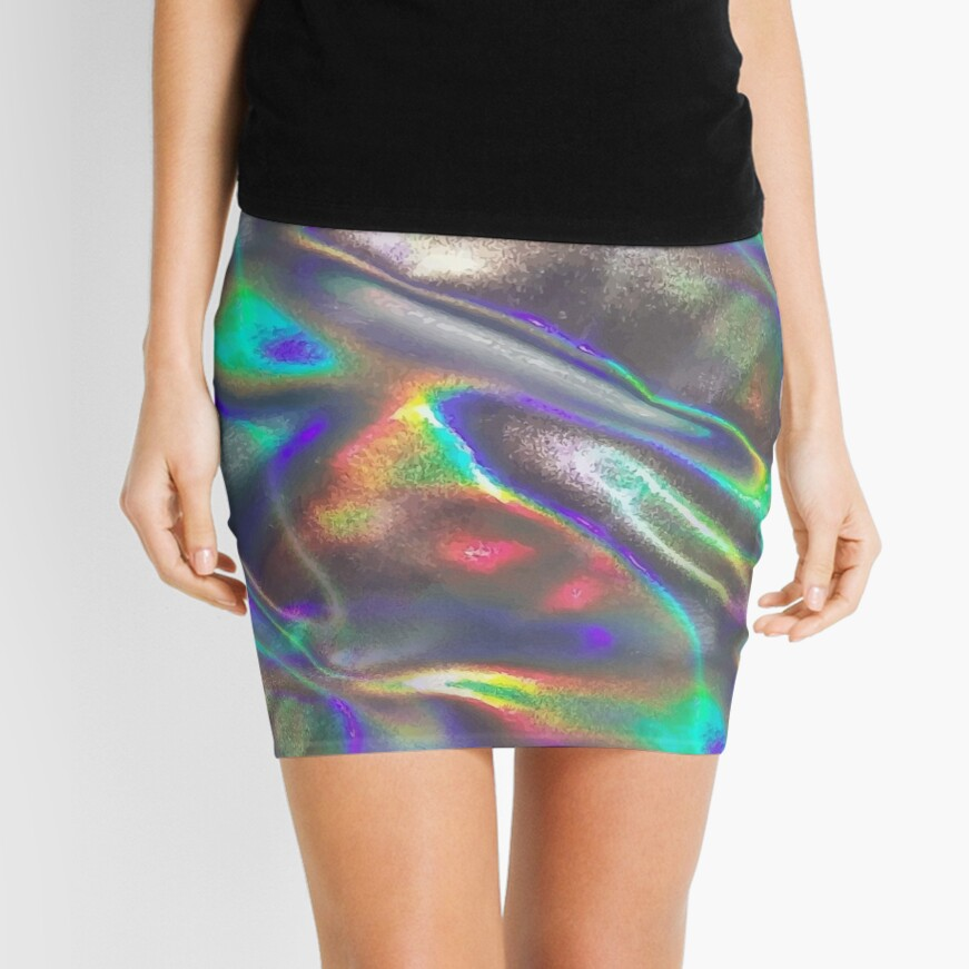 holographic print Mini Skirt