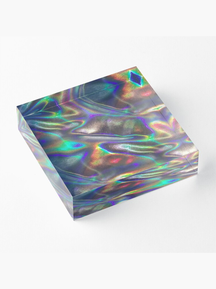 Alternate view of  holographic print Acrylic Block