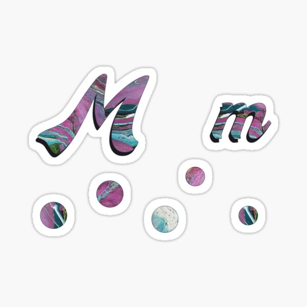 Alphabet  Stickers M Sticker