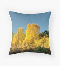 Rothiemurchus Gold Throw Pillow