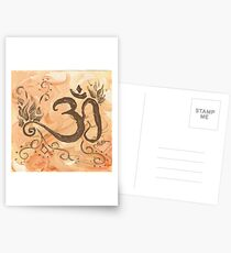 The Fire of Transformation - Om With Agni  Postcards