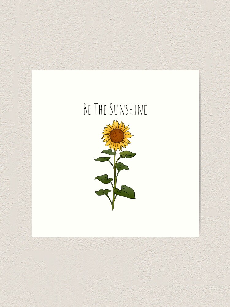 Alternate view of Be The Sunshine - Small Art Print