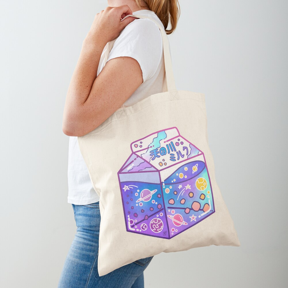 Milky Way Milk Carton Tote Bag