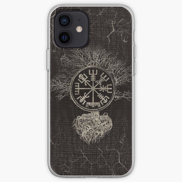 Vegvisir  and Tree of life  -Yggdrasil  iPhone Soft Case
