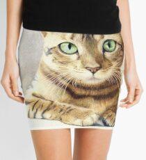 Minifalda Dibujo del gato de Bengala