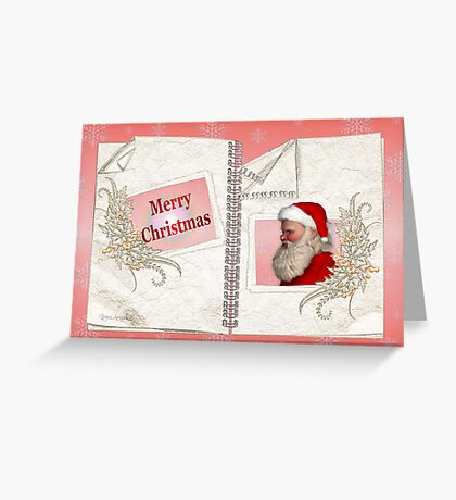 Santa`s Merry Christmas Greeting Card