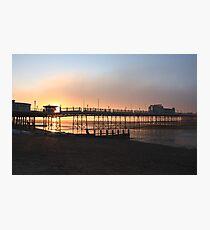Sea-Fog Sunrise - Worthing Pier Photographic Print
