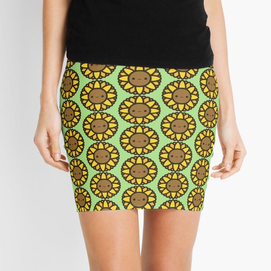Cute sunflower Mini Skirt