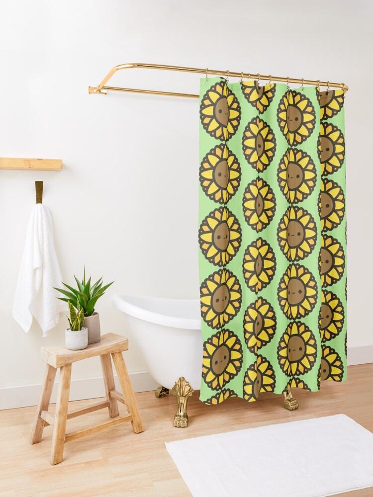 Alternate view of Cute sunflower Shower Curtain