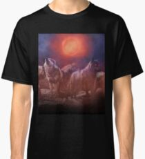 Wolf Pack Red Moon Classic T-Shirt