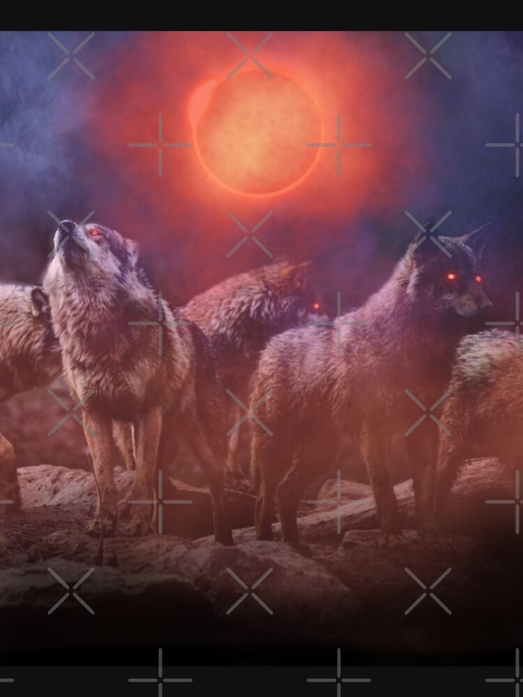 Wolf Pack Red Moon by Energetic-Mind
