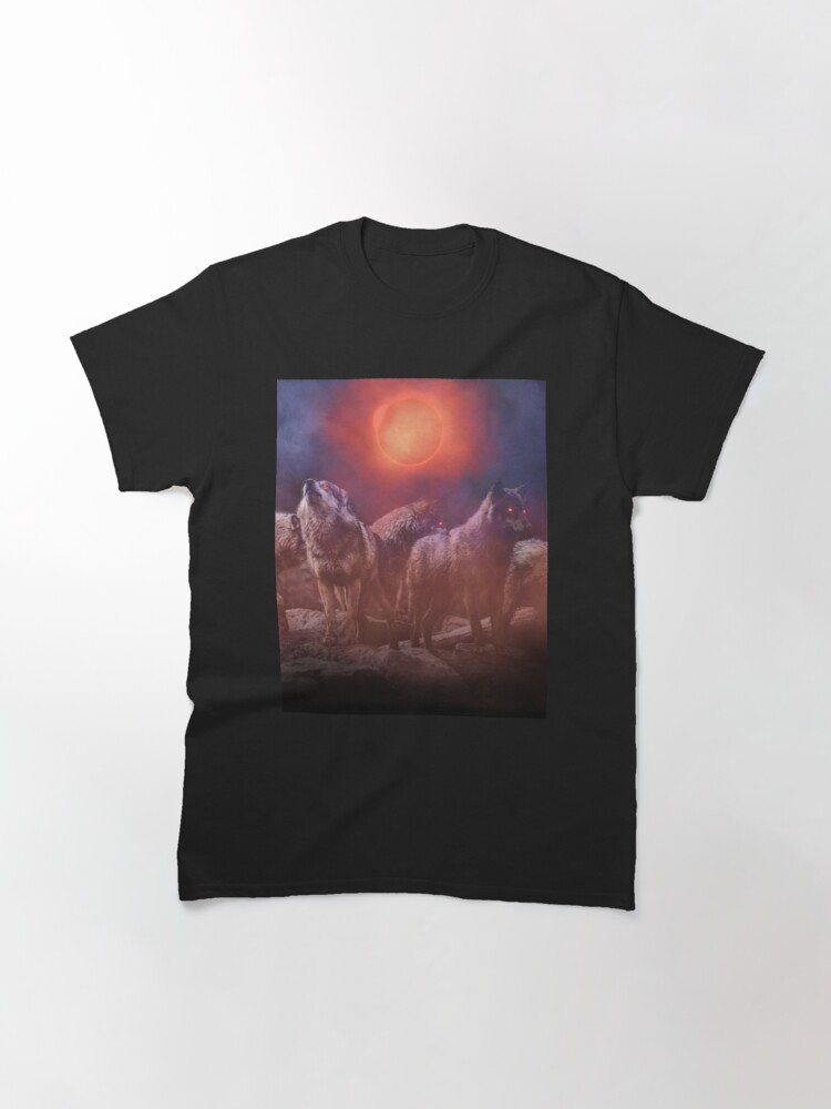 Alternate view of Wolf Pack Red Moon Classic T-Shirt