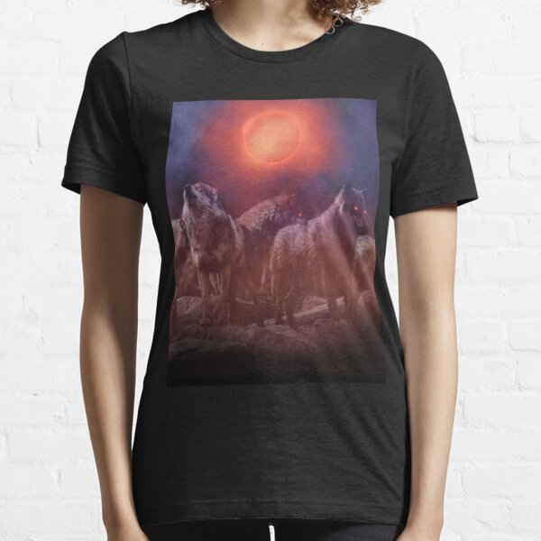 Wolf Pack Red Moon Essential T-Shirt