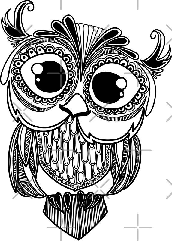Cute Owl Coloring Pages Mandala. Cute. Best Free Coloring