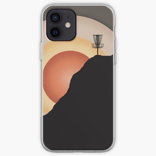 Sunset Disc Golf Basket iPhone Soft Case