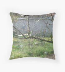 Spider's Net Throw Pillow