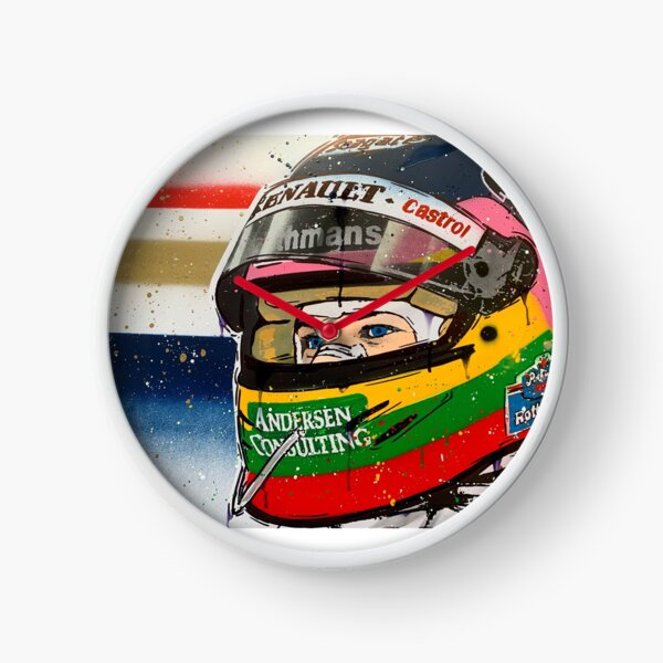 Jacques Villeneuve - Williams F1 graffiti painting by DRAutoArt Clock