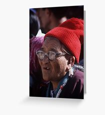 Ladakhi old woman Greeting Card