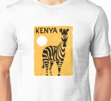 Kenya Africa Vintage Travel Poster Restored Unisex T-Shirt