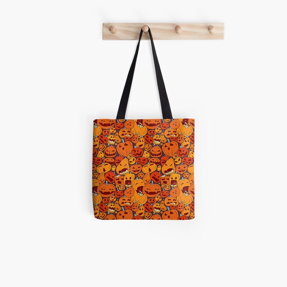 Pumpkin Halloween Pattern Tote Bag