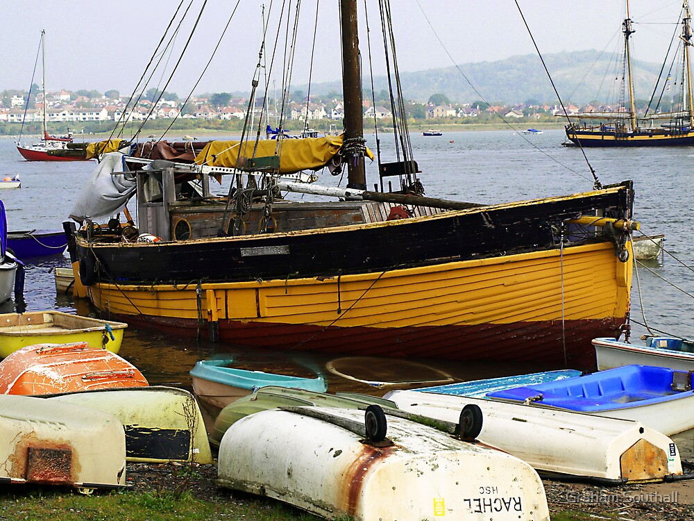 Boat, Conwy. North Wales by Graham Southall