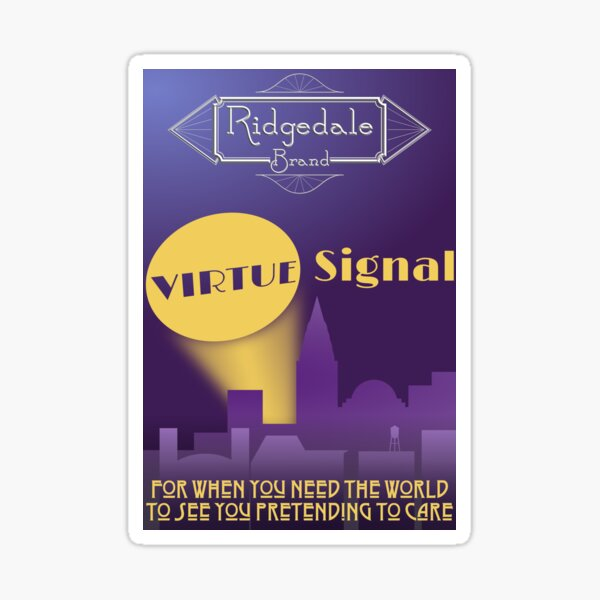 Ridgedale Brand Virtue Signal Sticker