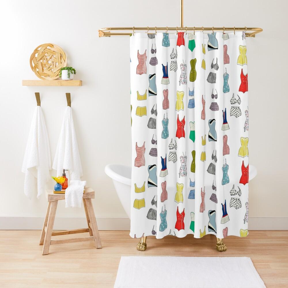 Vintage Bathing Suits Shower Curtain