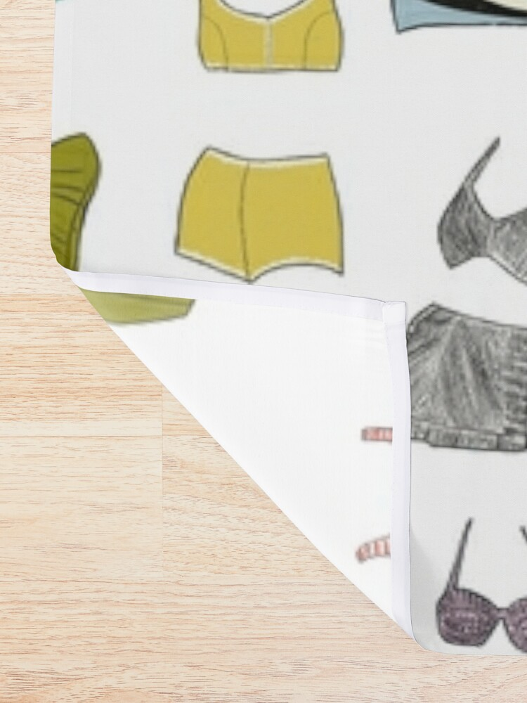 Alternate view of Vintage Bathing Suits Shower Curtain