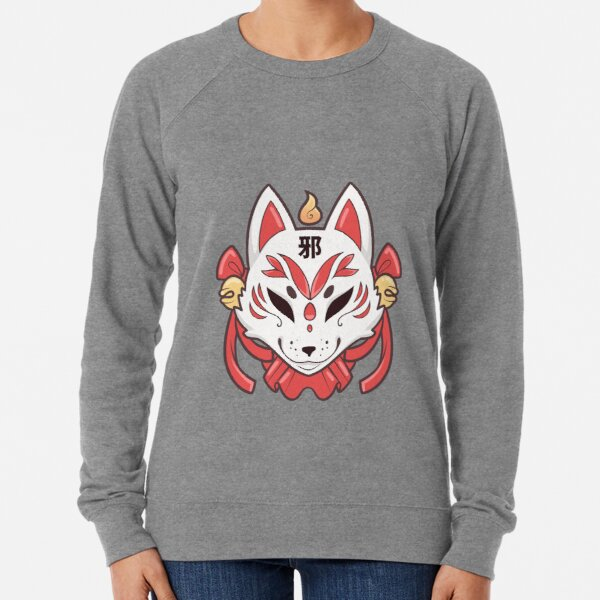 Spoopy Kitsune Mask Lightweight Sweatshirt