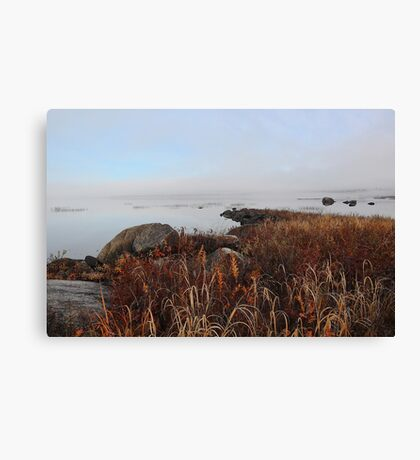 Early Morning Mist - Kezar Pond Canvas Print