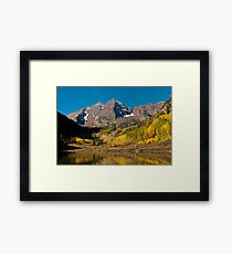 The Maroon Bells In Fall Framed Print