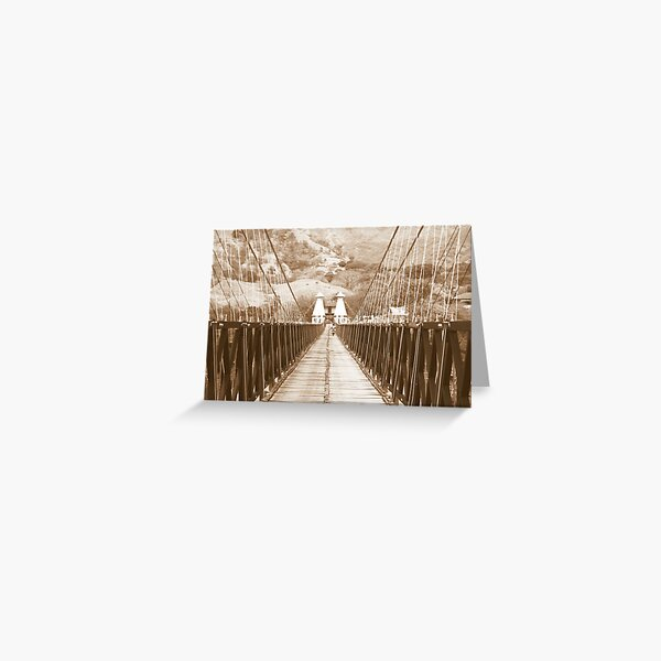 Puente de Occidente in Sepia for a Challenge Greeting Card