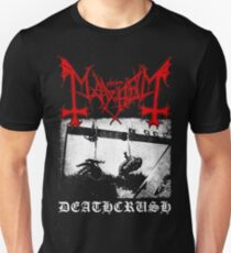 Mayhem Deathcrush Euronymous Dead Varg Slim Fit T-Shirt