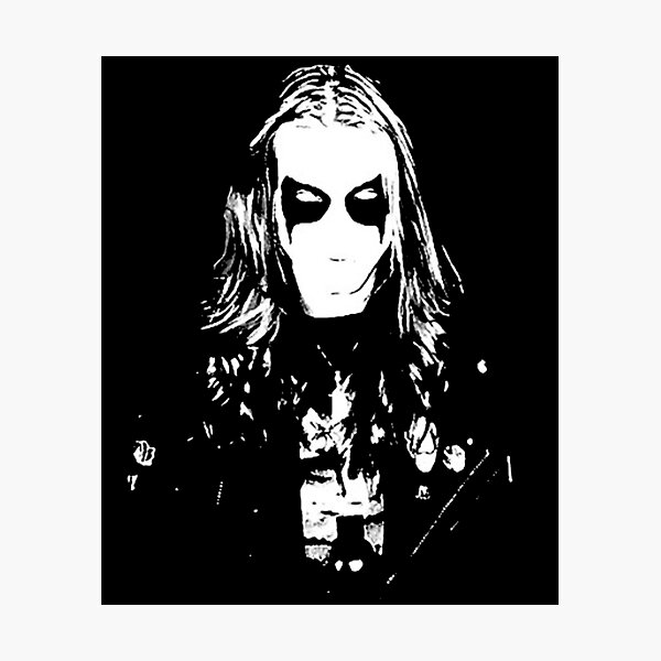 Mayhem Black Metal Dead Per Yngve Ohlin Photographic Print