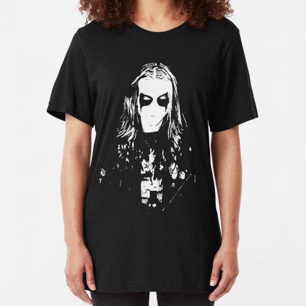 Mayhem Black Metal Dead Per Yngve Ohlin Slim Fit T-Shirt