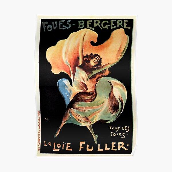 Folies Bergere LA LOIE FULLER Paris Cabaret Music Hall Dance Vintage French Poster