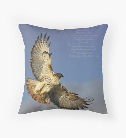 hawk ascending Throw Pillow