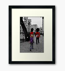 Quick march ! Framed Print