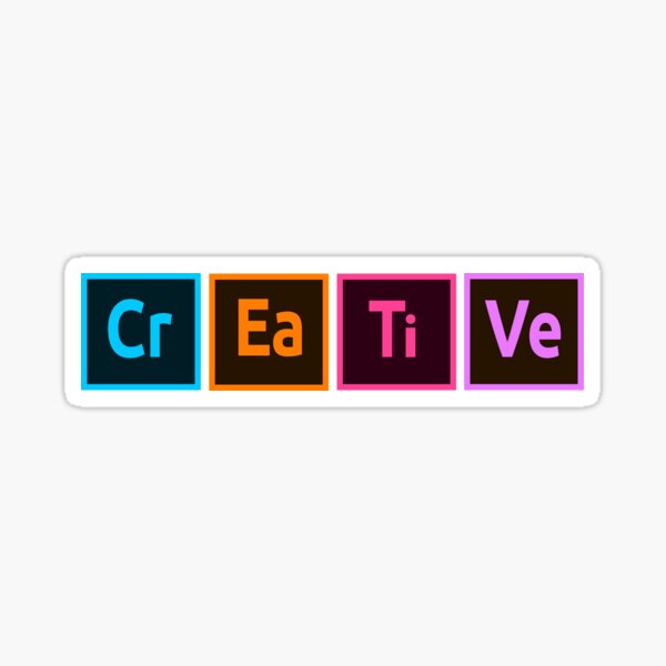 Creative CC Sticker