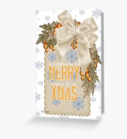 A Sparkling Merry Christmas Greeting Card