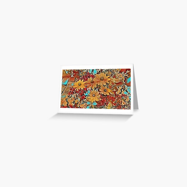 Five flowers Greeting Card