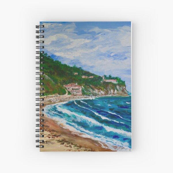 Burnout Beach, Palos Verdes Pennisula Spiral Notebook