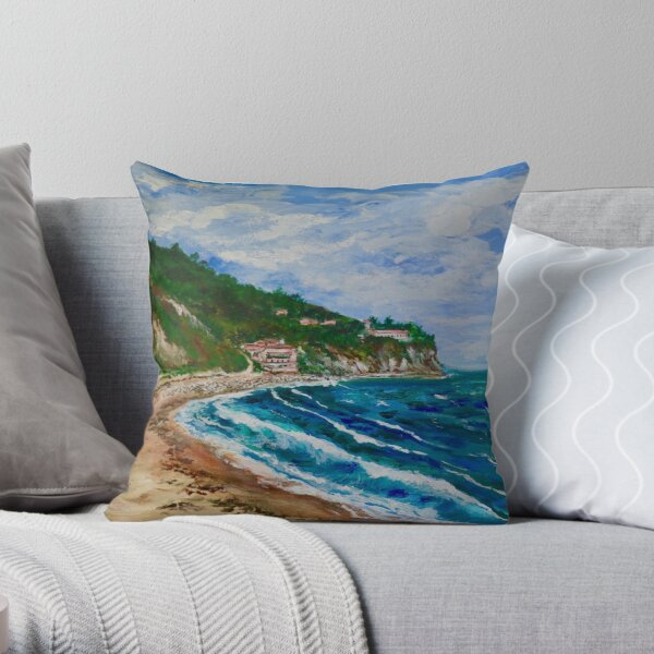 Burnout Beach, Palos Verdes Pennisula Throw Pillow
