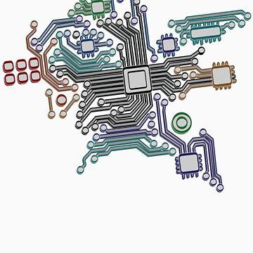circuit board by snowghost