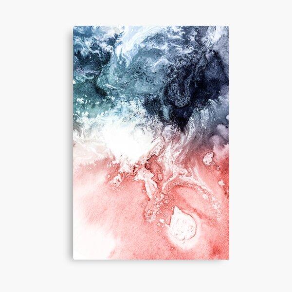 Abstract Watercolor, Aerial Coastal View Canvas Print