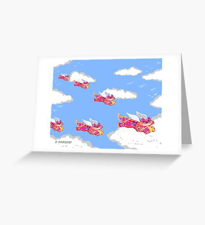 The Flying Feline Corp Greeting Card